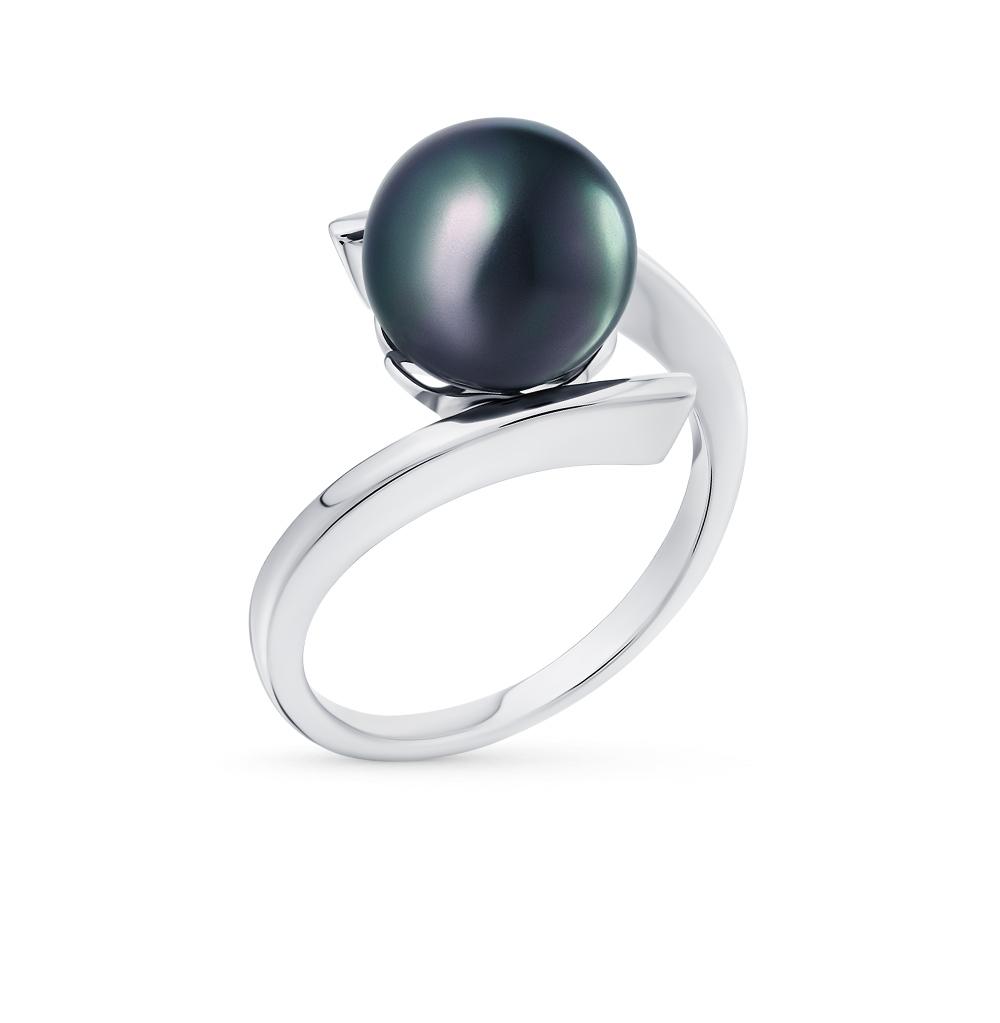 Фото «серебряное кольцо с жемчугом имитациями»