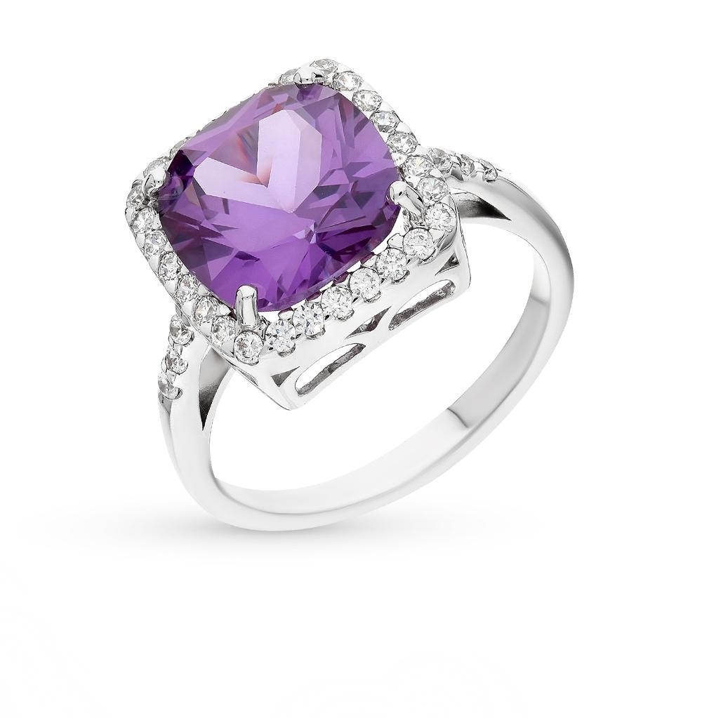 Фото «серебряное кольцо с фианитами и турмалинами»