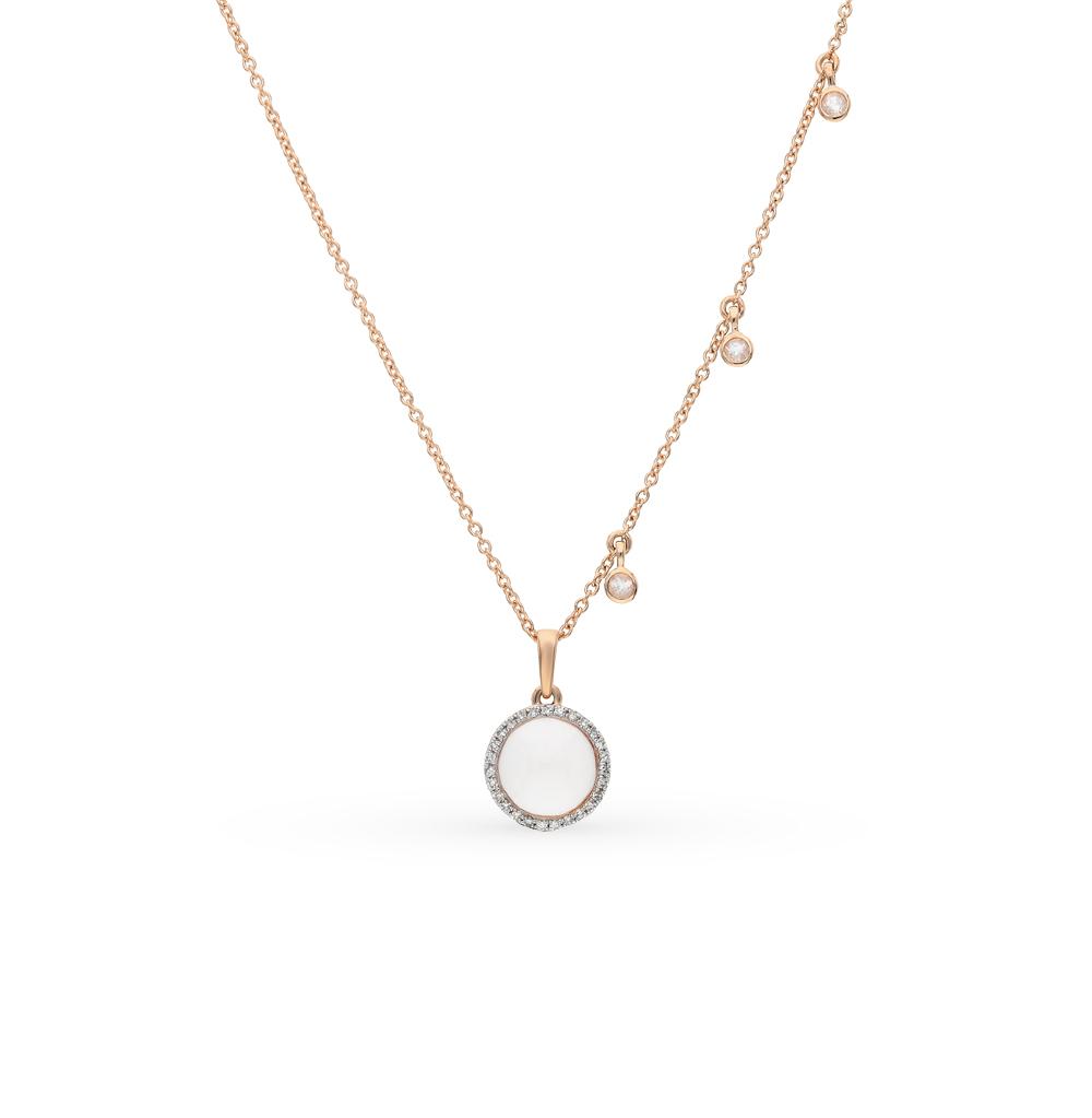 Фото «золото шейное украшение с бриллиантами и кварцами»
