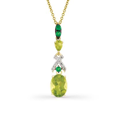 Фото «золотая подвеска с бриллиантами, изумрудами и хризолитами»