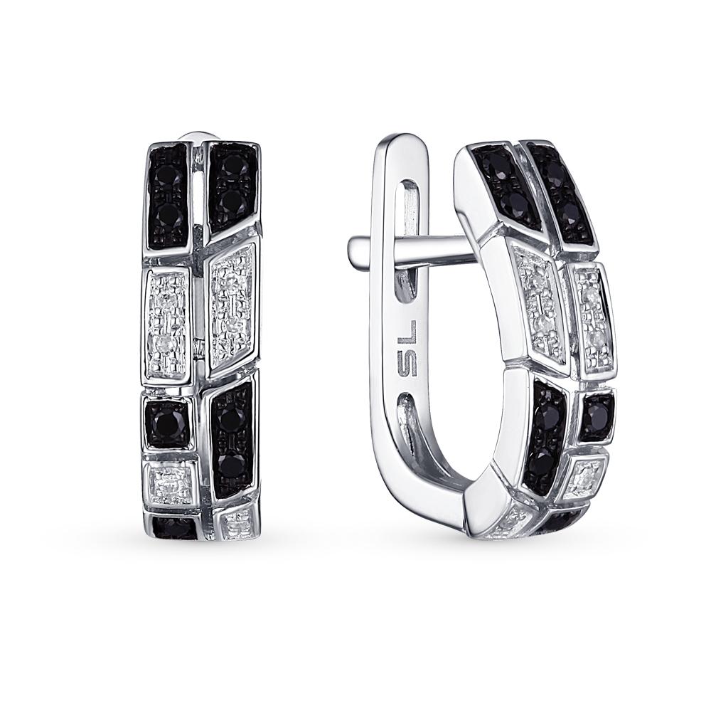 Фото «серьги с чёрными бриллиантами»