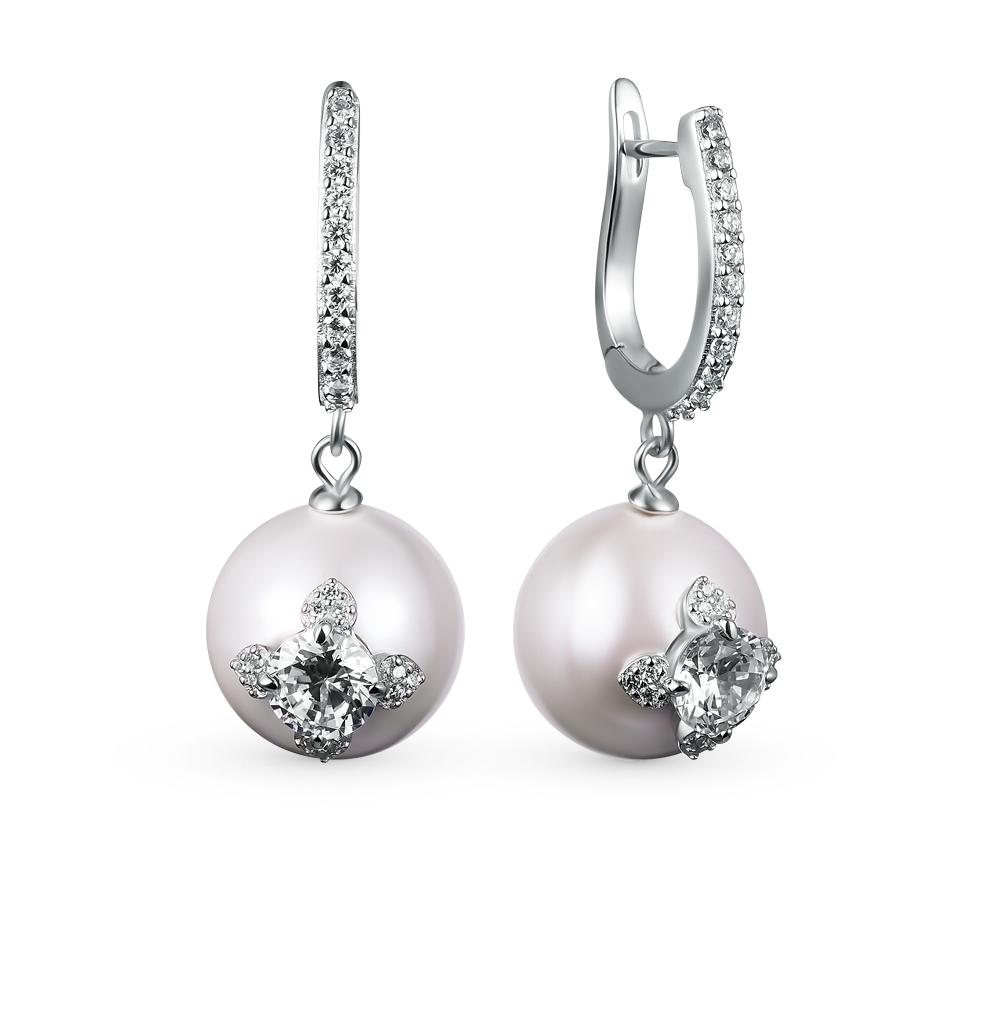 Фото «серебряные серьги с жемчугами»
