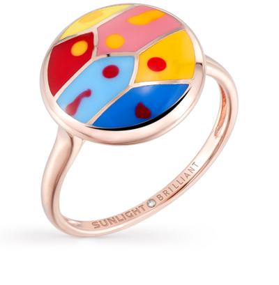 Фото «серебряное кольцо с бриллиантами и эмалью»