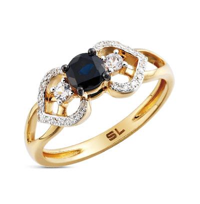 Фото «серебряное кольцо с бриллиантами, бирюза имитациями, жемчугом имитациями и сапфирами»