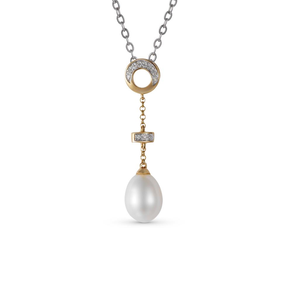 Фото «золотая подвеска с бриллиантами и жемчугами»