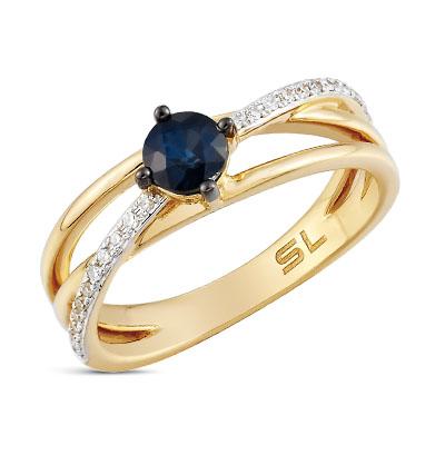 Фото «серебряное кольцо с бриллиантами, изумрудами и сапфирами»