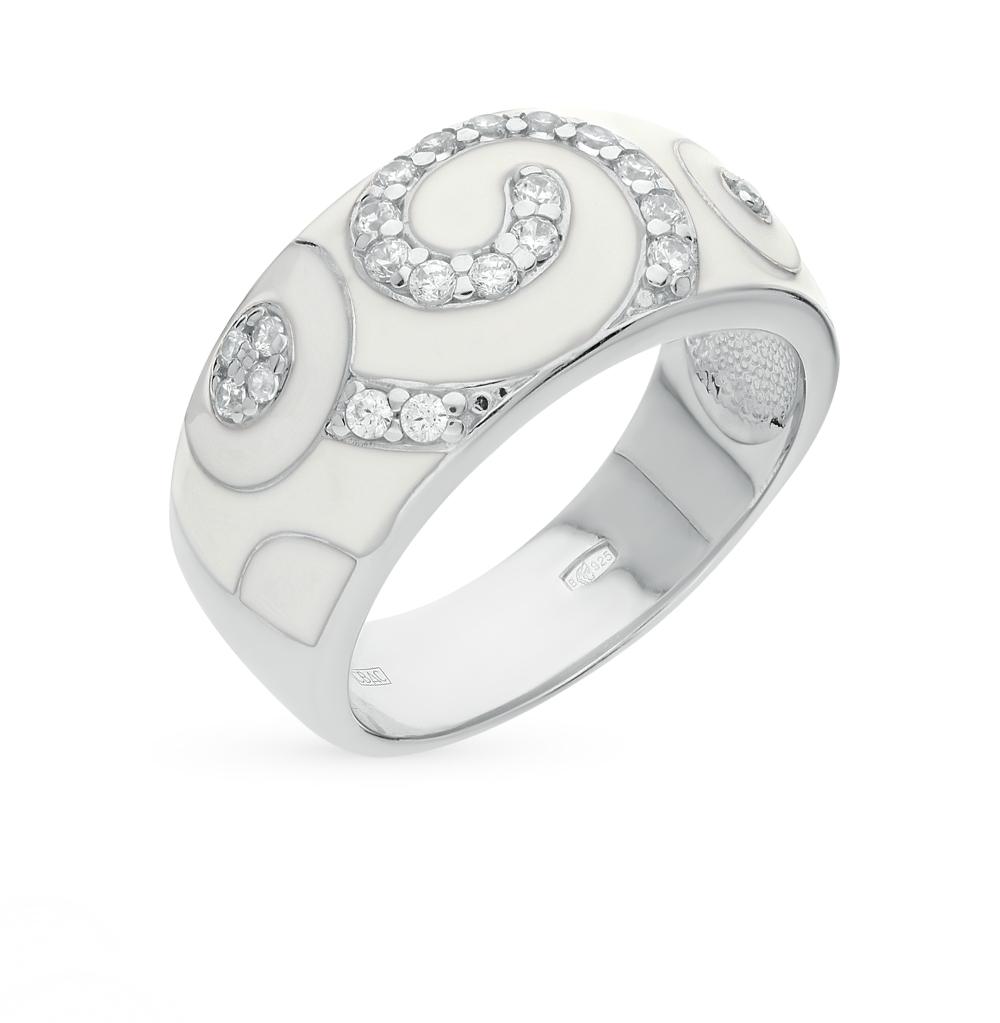 Фото «кольцо с фианитами и эмалью»