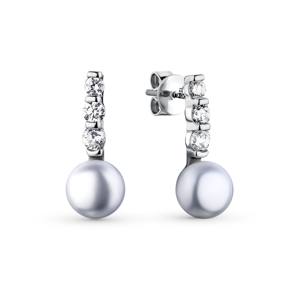 Фото «серебряные серьги с жемчугом»