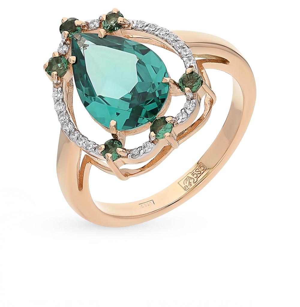 Фото «золотое кольцо с ситалами и турмалинами»