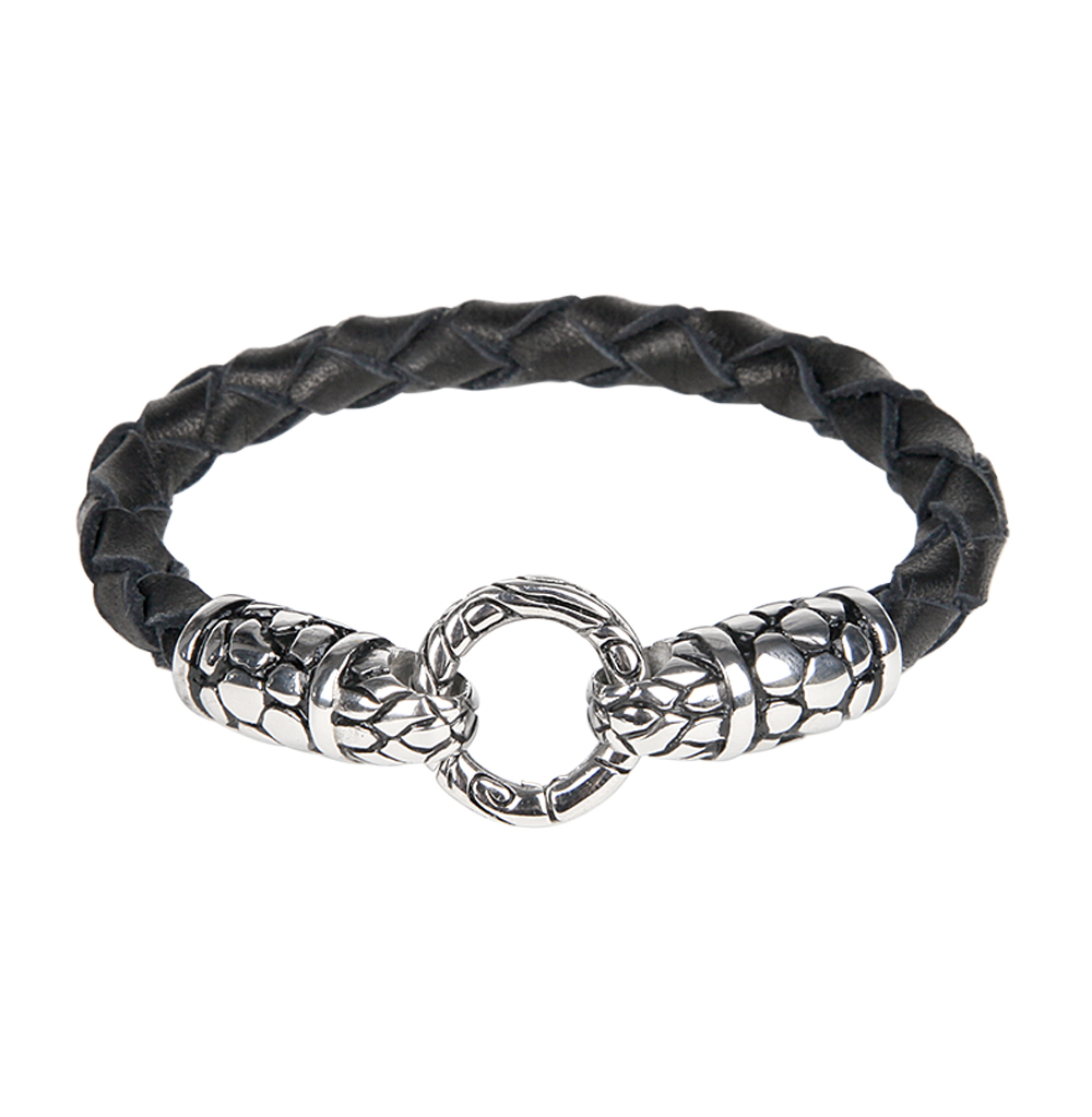 Фото «браслет из кожи и стали с сталью»
