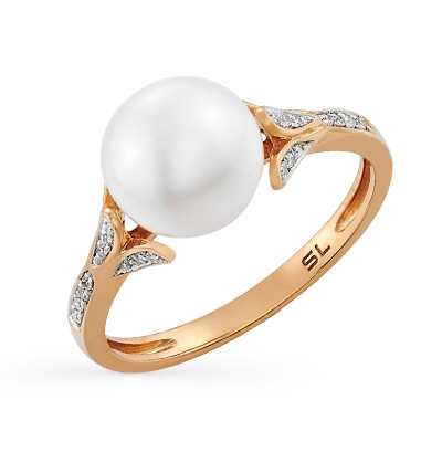 Фото «кольцо с жемчугом и бриллиантами»