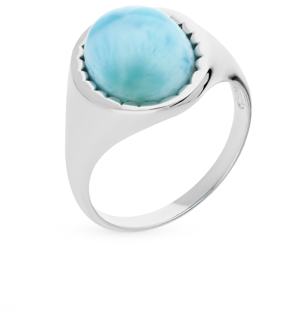 Фото «серебряное кольцо с ларимарами»