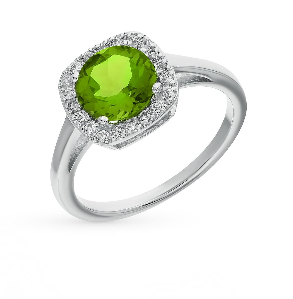 Фото «серебряное кольцо с фианитами и султанитами»