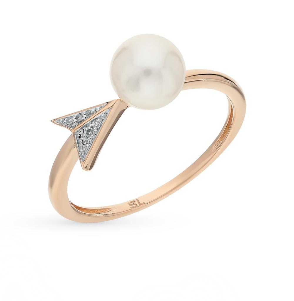 Фото «кольцо с бриллиантами и жемчугом»