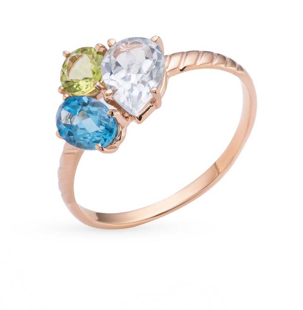 Фото «золотое кольцо с топазами и хризолитами»