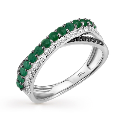Фото «золотое кольцо с изумрудами и бриллиантами»